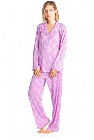 696c4c8a6c Bhpj By Bedhead Pajamas Women s Soft Knit long Sleeve Pajama Set - Lilac  Prism