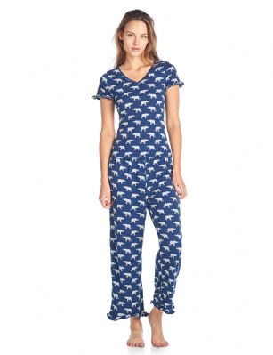 Bhpj By Bedhead Pajamas Women S Fitted Soft Knit Ruffle