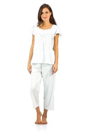 53a5d6d41a Casual Nights Women s Dot Short Sleeve Capri Pajama Set - Green ...