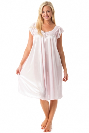 9e73dff29f2 Casual Nights Women s Satin Lace Cap Sleeve Embroidery Night Gown - Light  Pink