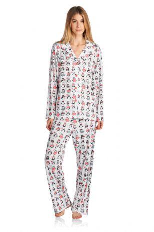 afd96e8da6 Bhpj By Bedhead Pajamas Women s Brushed Back Soft Knit Pajama Set - Holiday  Penguins