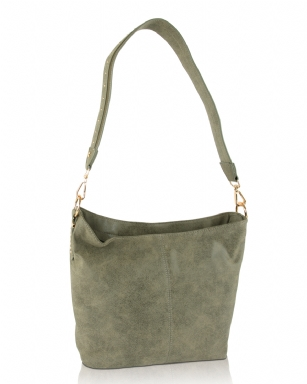 ec738b0070a9 Steve Madden Bsawyer Top Zip Shoulder Hobo Bag - Olive SMBSAWYER-OL