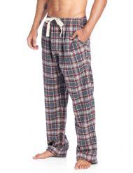 17b3d91d4fc Ashford   Brooks Mens Super Soft Flannel Plaid Pajama Sleep Pants -  Charcoal Burgundy