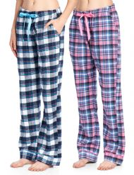 Ashford   Brooks Women s Soft Flannel Plaid Pajama Sleep Pants 2 Pack - Set  4 b5e76c3f0