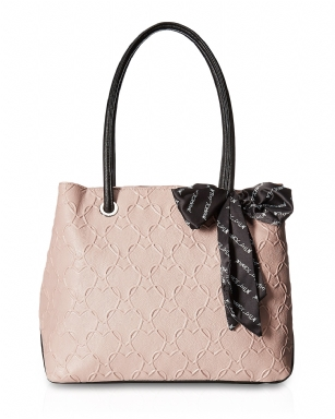 Betsey Johnson Heart Quilted Satchel With Scarf Handbag