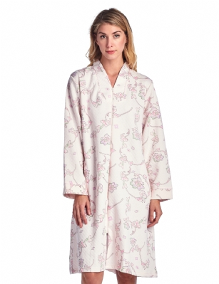 Casual Nights Women's Floral Print Zipper Front Quilted Robe ... : quilted robe - Adamdwight.com