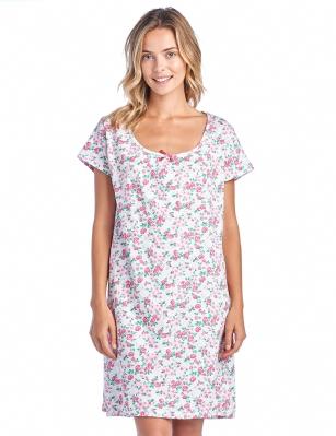 d957ed1ce2 Casual Nights Women s Cotton Short Sleeve Nightgown Sleep Shirt - Bloom Pink