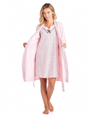 Casual Nights Women s Sleepwear 2 Piece Nightgown and Robe Set - Pink df19baf13