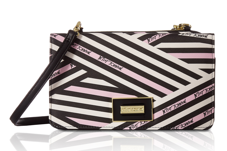 2872d12156e7 Betsey Johnson Signature Stripe Wallet On A String Crossbody - Multi ...