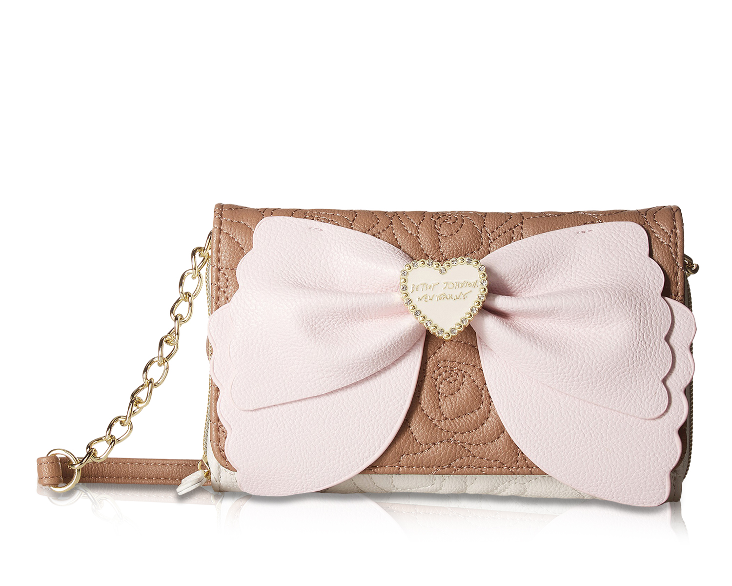 2807d3271eec Betsey Johnson Scalloped Bow Wallet On A String Crossbody Purse ...